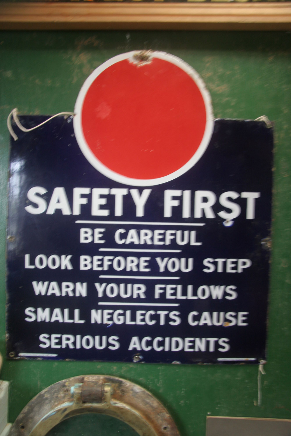 American Enamel Safety Sign 163 150
