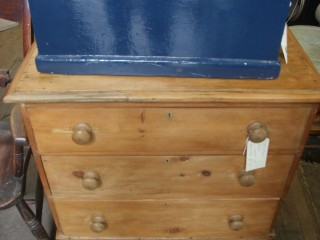 Blue Pine Chest – Stripped Pine Chest of Drawers