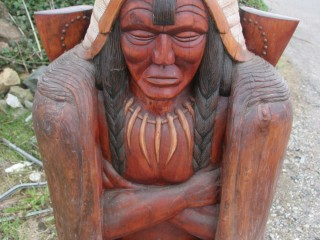 Hand Carved Indian from local Sequoia