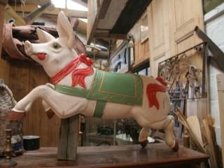 Fairground Art Carousel Pig Galloper