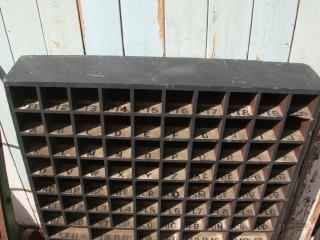 Painted Mahogany Pigeon Holes – Railway-Shipping