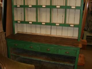 Green Pine Pigeon Hole Dresser / £750