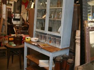 Glass Top Pine Kitchen Unit / £650