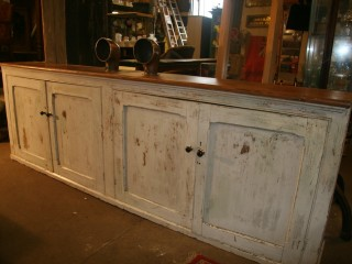 Large Restord Pitch Pine Sideboard (9ft) Original Paint / £600